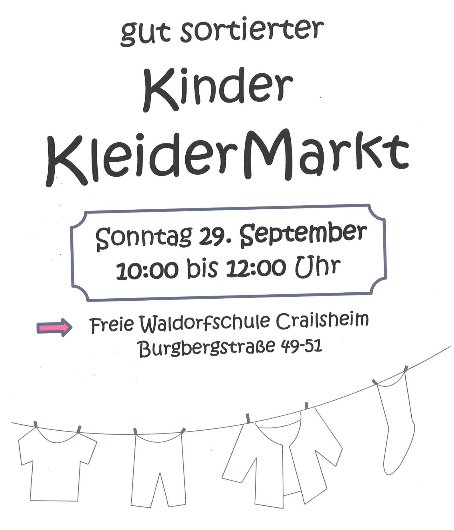 Plakat Kinderkleidermarkt