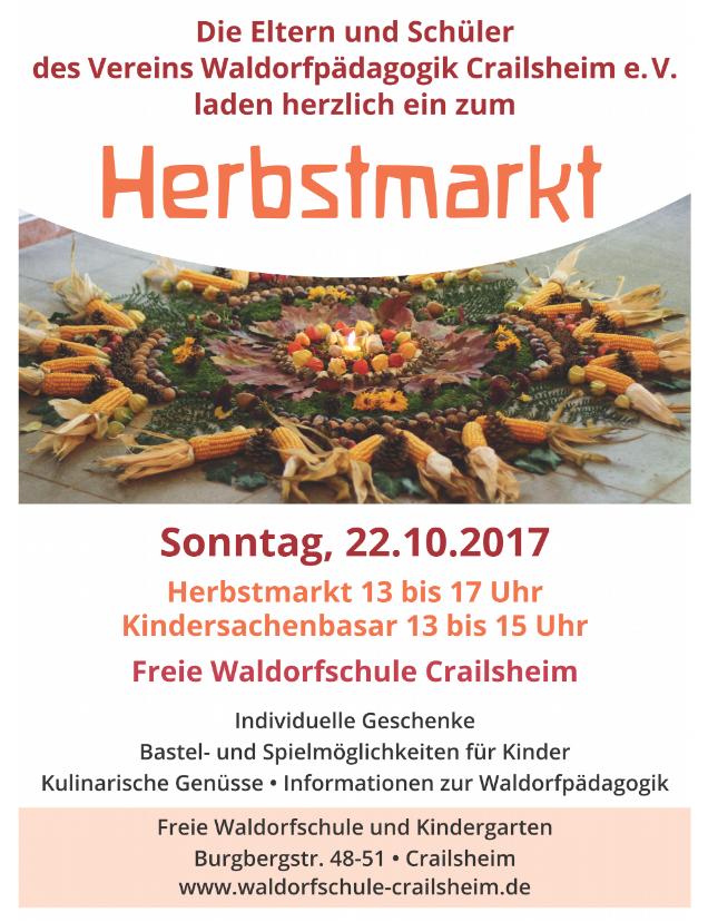 Plakat Herbstmarkt